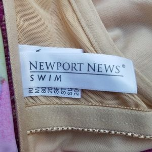 Newport News Swim - NEWPORT NEWS SWIMSUT 2 PIECE PRINT FLORAL SIZE 10